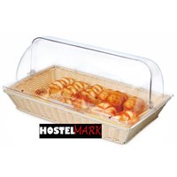 Cesta buffet rectangular con tapa