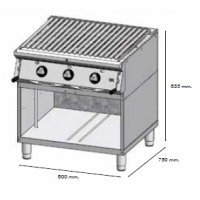 Barbacoa HR serie 750 estante 800